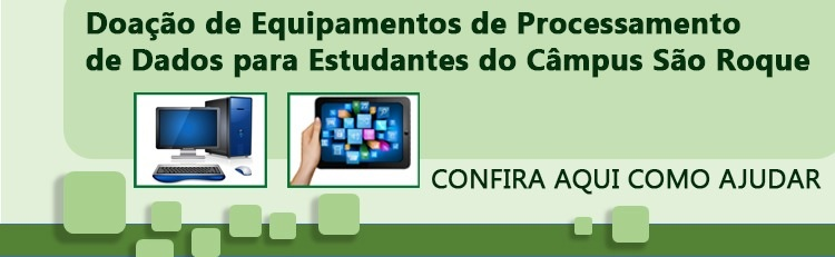 IFSP capta doações de tablets e notebooks para uso discente